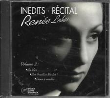 CD 23 TITRES RENÉE LEBAS INÉDITS - RÉCITALS VOL.2 DE 1999 NEUF SCELLE