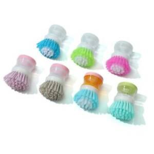 Kitchen SOAP DISPENSING DISH WASHER Washing Up Cleaning Scrubbing Brush  *