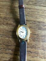 Ladies LORUS Classic Oval Shaped Watch with in wear Leather Straps W365/4