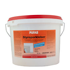 (1,95€/ Kg)Pufas Styroporkleber 14Kg, Gebrauchsfertiger Dispersionsklebstoff