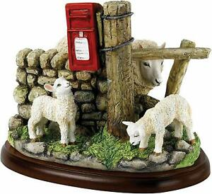 New Border Fine Arts Lambs Sheep May Safely Graze Model Hand Painted Figurine