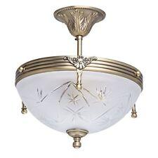 Mw-light plafonnier de Style Antique en Métal couleur Bronze avec Abat-jour Coup
