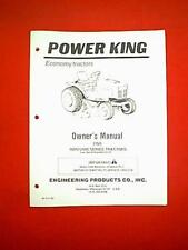 POWER KING TRACTOR MODEL 1600 / 2400 FROM SERIAL # 65132 OWNER WITH PARTS MANUAL