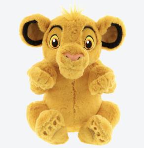 "Disney Lion King Simba Large Plush 14"" Fluffy Plushy Tokyo Disneyland"
