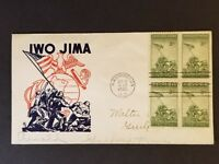 1945 Washington DC Iwo Jima Patriotic WWII First Day Ken Boll Cachet Craft Cover