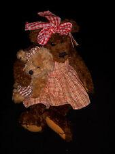 Bearington Collection Teddy Bear - Sara - Style 1064 - Bear with Little Bear EUC