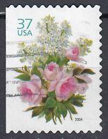 USA Briefmarke gestempelt 37c Blumen Jahrgang 2004 / 1788