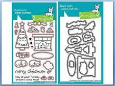 Lawn Fawn Photopolymer Clear Stamp & Die Combo ~ CHRISTMAS DREAMS ~LF1466,1467