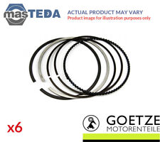 6x ENGINE PISTON RING SET GOETZE ENGINE 08-176600-00 I STD NEW OE REPLACEMENT