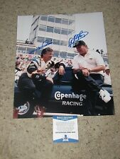 MARIO ANDRETTI AND A.J. FOYT  INDY 500 WINNERS SIGNED11x14 PHOTO beckett