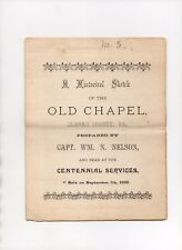 1890 pamphlet - A Historical Sketch of the Old Chapel, Clarke County, Virginia