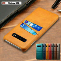 For Samsung S20 Ultra S10 Plus S9 S8 Note20 Genuine Leather Cover Card Slot Case