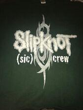 Slipknot (sic) Crew Shirt/ 2000 World Domination Tour/ RARE!!!!