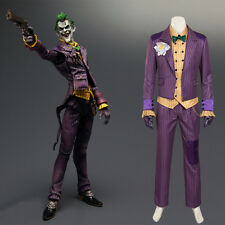 HZYM Men's Batman Arkham Asylum Joker Cosplay Costume