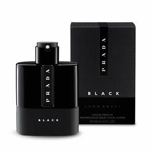 Prada Luna Rossa Black 100ml 3.4 Oz Eau De Parfum Spray Men New Boxed