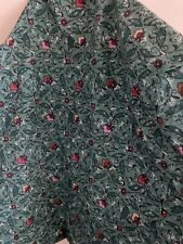 Vintage Twin Fitted Sheet for Wamsutta Floral Rare Teal/Green Color & Design EUC