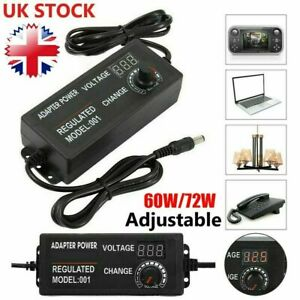 Electrical AC/DC 3V-24V Power Supply Adapter Charger Voltage Variable Adjustable