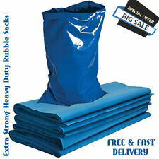 More details for 500 gauge blue extra strong heavy duty rubble sacks high strength bags builders