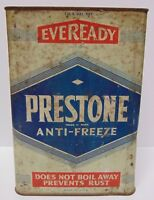 Vintage 1938 EVEREADY PRESTONE ANTI FREEZE 1 GALLON ADVERTISING CAN NEW YORK NY