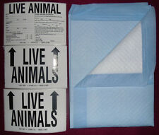 Pet Airline Travel Kit Bowl Dish Live Animal Label Dog Cat Carrier Kennel Crate