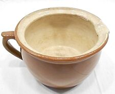 VINTAGE SARREGUEMINES POTTERY, SMALL CHAMBERPOT, FRANCE