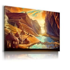 MOUNTAINS WORLD MODERN ABSTRACT ANIMAL CANVAS KIDS WALL ART PICTURE WS267 X