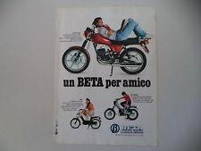 advertising Pubblicità 1982 MOTO BETA CUSTOM 240/MIO 50/M5 SPECIAL
