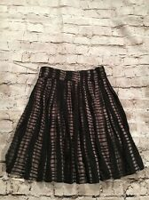 Delias Black And Brown Juniors Pleated Skirt. Size: Small.
