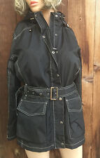 Original Wellensteyn Barbados Women's Black Trench Coat Jacket Size Large New