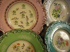 Plates FOUR Pastel Spring Easter Plates FANCY!!!!