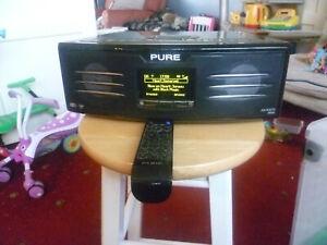 Pure Avanti Flow DAB radio + iPod Dock - BRAND NEW BRIGHT DISPLAY FITTED!