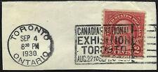 "EFO ""US Stamp Postmarked Toron Canada Exh 1930"" CDS Cancel SON 2 Cent 34B43"