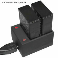 2x Battery + Dual Charger for GoPro Hero 3 3+ Plus Hero3 3plus | 1065203-91000