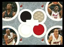 2005-06 Topps Luxury Box QUAD JERSEY /193 ~ Dwyane Wade Shaquille Oneal J Will