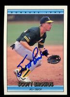 Scott Brosius #591 signed autograph auto 1992 Donruss Baseball Trading Card