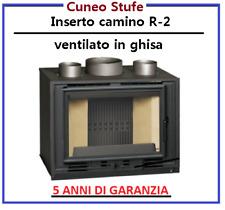 Inserto per camino, caminetto ventilato in ghisa 14 Kw R-2