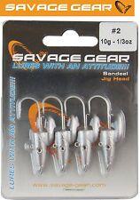 Savage Gear Sandeel Jig Head 10g Gr. 2 - 4 Jighaken für Gummiköder, Bleikopf