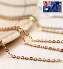 "Stunning 18K Rose Gold Filled 1.5mm Classic Chain Necklace 16 - 30"" Good Quality"