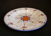 Art Pottery Hand Painted Ceramic Soup Plate