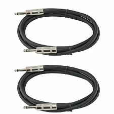 2 PACK pair 12 GA GAUGE 1/4 TO 1/4 MONO MALE PA DJ SPEAKER CABLE CORD 10 ft foot