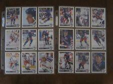 1991 - 92  NEW YORK RANGERS - HOCKEY TRADING CARDS - 24 CARD LOT - UPPER DECK