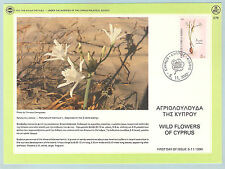 WILD FLOWERS OF CYPRUS,Pancratium maritium L.,1990 ISSUE, NICE  FIRST DAY  CARD