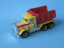 Matchbox Peterbilt Tipper Construction Yellow and Red toy model car