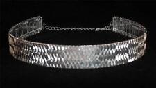 Silver Tone Choker Necklace