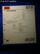 Sony Service Manual DCT 51 Cordless Telephone (#2600)