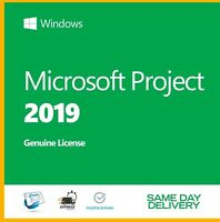 MS Project 2019 Professional genuine Product Key Activation License