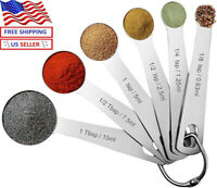 Pomufa 18/8 Stainless Steel Measuring Spoons, 6-piece, New Version