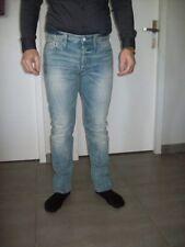 jeans homme de marque REPLAY taille 42 slim pantalon mode tendance bleu délavé