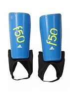 Adidas Performance F50 Youth Shin Guards Blue Soccer Football Small Junior