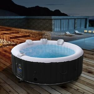 AREBOS In-Outdoor Whirlpool Spa Pool Wellness Heizung Massage Aufblasbar Rund